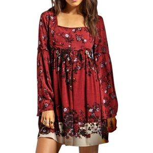 Free People | Moody Floral Empire Waist Boho Dress
